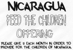 Nicaragua-feed children envelope
