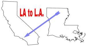 LA to LA graphic