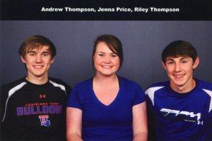 Andrew Thompson, Jenna Price and Riley Thompson