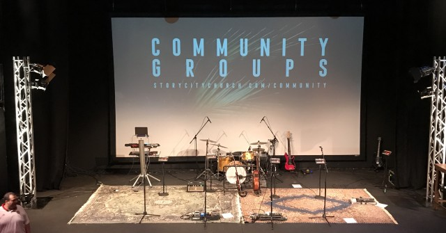 Story City Church stage